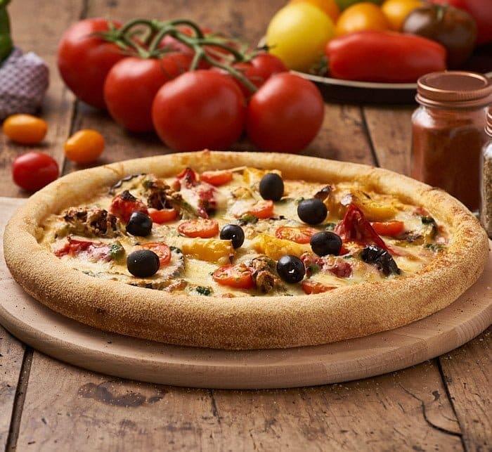 pizza aubergine